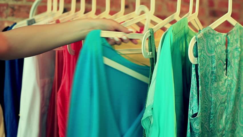 hangers in showroom
